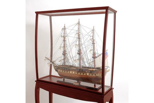 Display case tall ship with legs