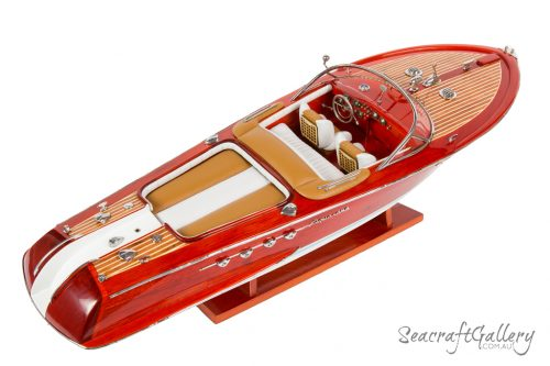 Riva brown 70cm model boat 10