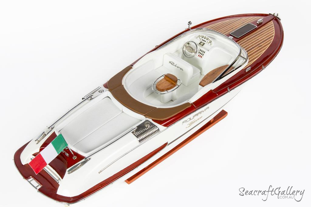 70cm Riva Aquariva Gucci handcrafted wooden boat model 18b52956bf9