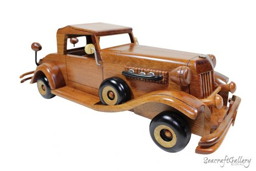 scale wooden model cars