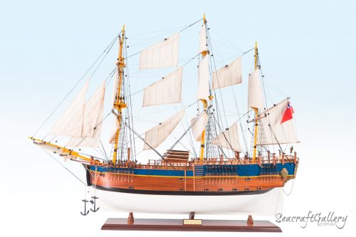 HMS Endeavour Wooden Ship Model for Sale - 95cm | Seacraft Gallery