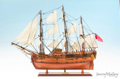 HMB Endeavour painted 1 model ship 75cm