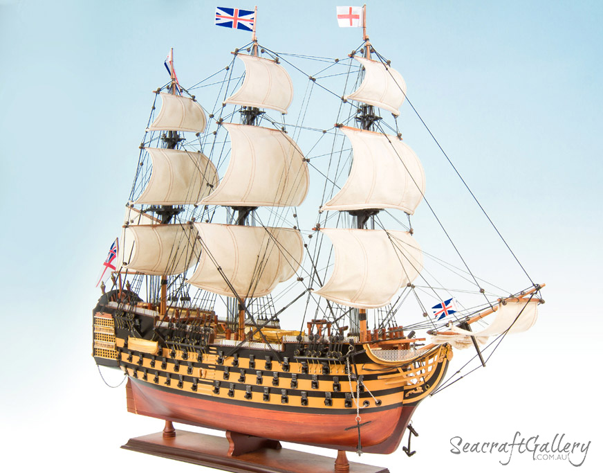 HMS Victory 95cm painted model ship 3