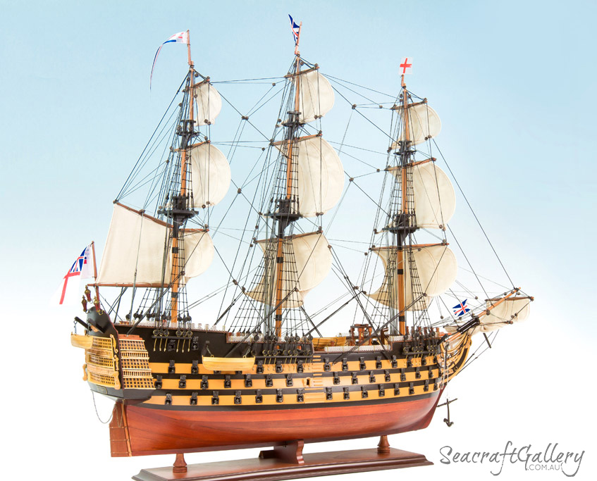 HMS Victory 95cm painted model ship 2
