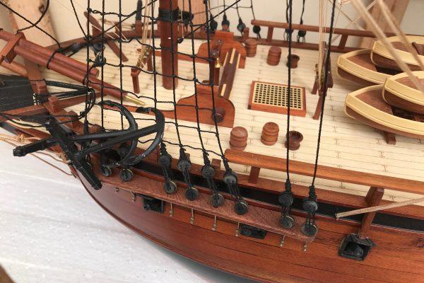 HMS Sirius custom model ship 2