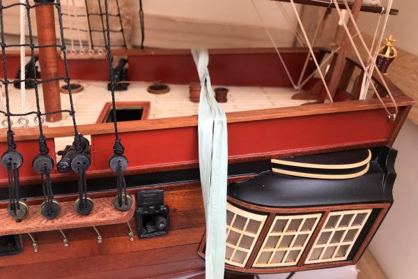 HMS Sirius custom model ship 4