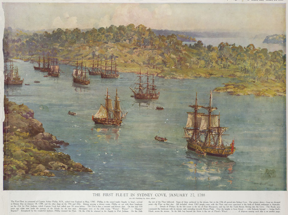 The First Fleet Ships (Convicts) | Discovery of Australia | Seacraft Gallery