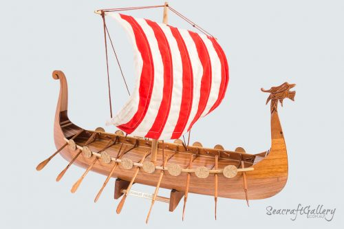 Viking Model Ship | Drakkar Viking Ship Model | Viking Longship Model | Ship Models for Sale
