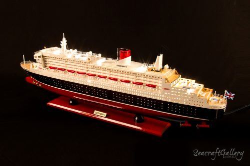 Buy Queen Mary 2 Cruise Ship Model with Lights – 80cm | Seacraft Gallery