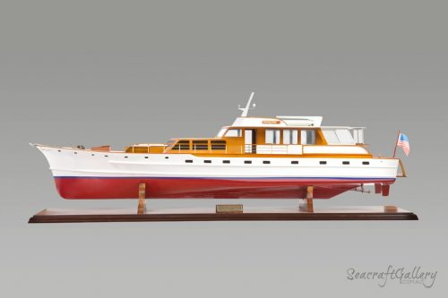 Trumpy motor yacht model