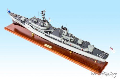 Wooden Battleship Models | HMS Brisbane Model Warship for Sale