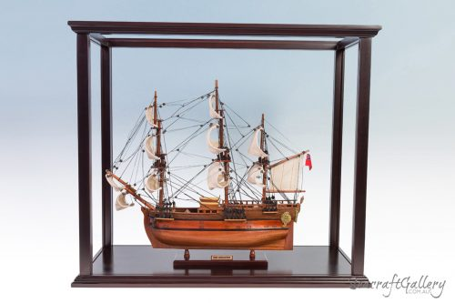 Display cabinet tall ships 45cm