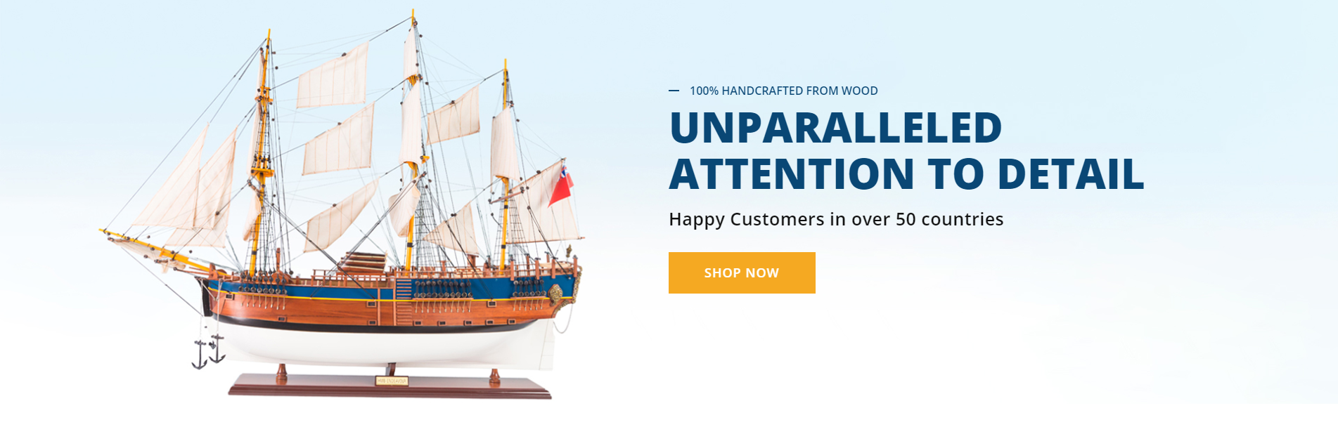 Handcrafted Wooden Model Ships for Sale in Australia | Seacraft Gallery