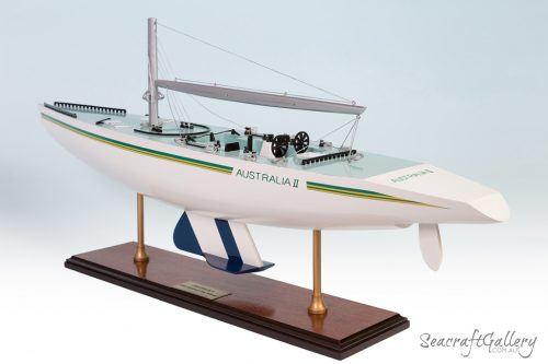 Australia II raching yacht model