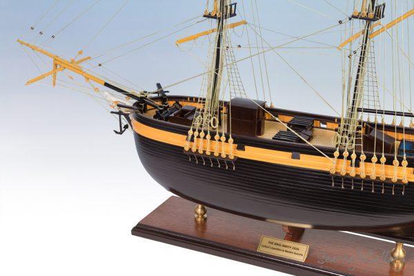 The Brig Amity Model Ship