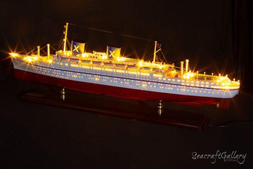 SS Australis Ocean Liner Handmade Wooden Ship Model