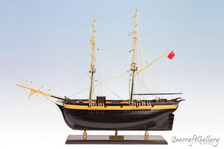 The Brig Amity Model Ship