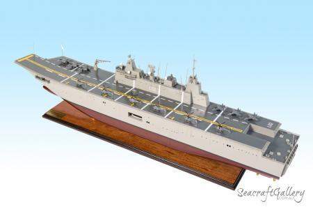 HMAS Canberra aircraft carrier model