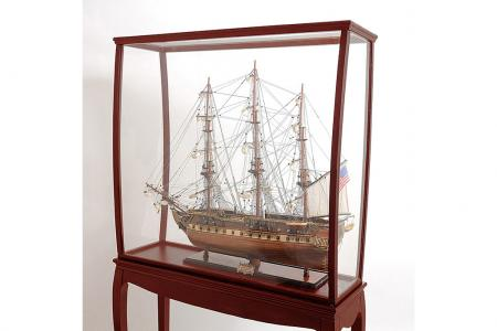 Display case tall ship with legs||||||||