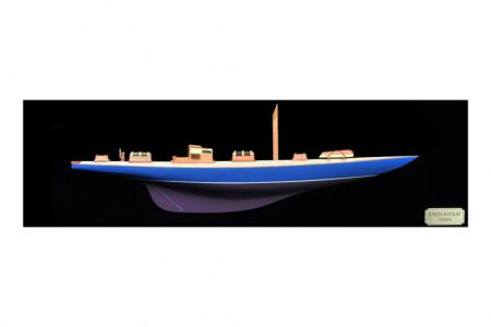 Half hull Endeavour painted||Half Hull Endeavour Model