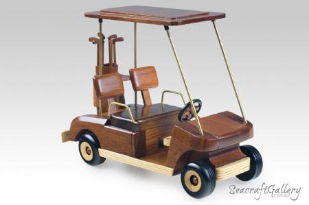 Wooden Golf Cart model 1