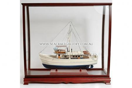 Display cabinet tall ship model