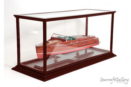 Display case model boat